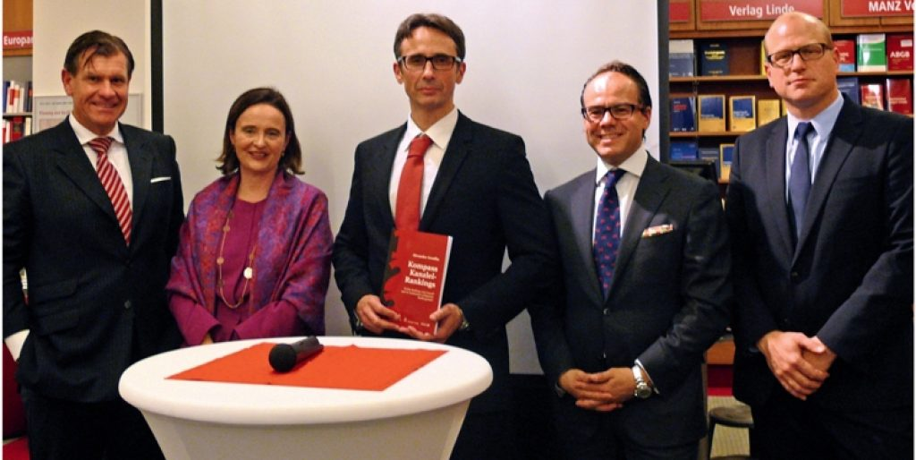 Vlnr: Michael Brand (Brand RA), Bettina Hörtner (RA Hörtner), Alexander Gendlin (MP Law Business), Immanuel Gerstner (SWCP), C. Dietz (MANZ)